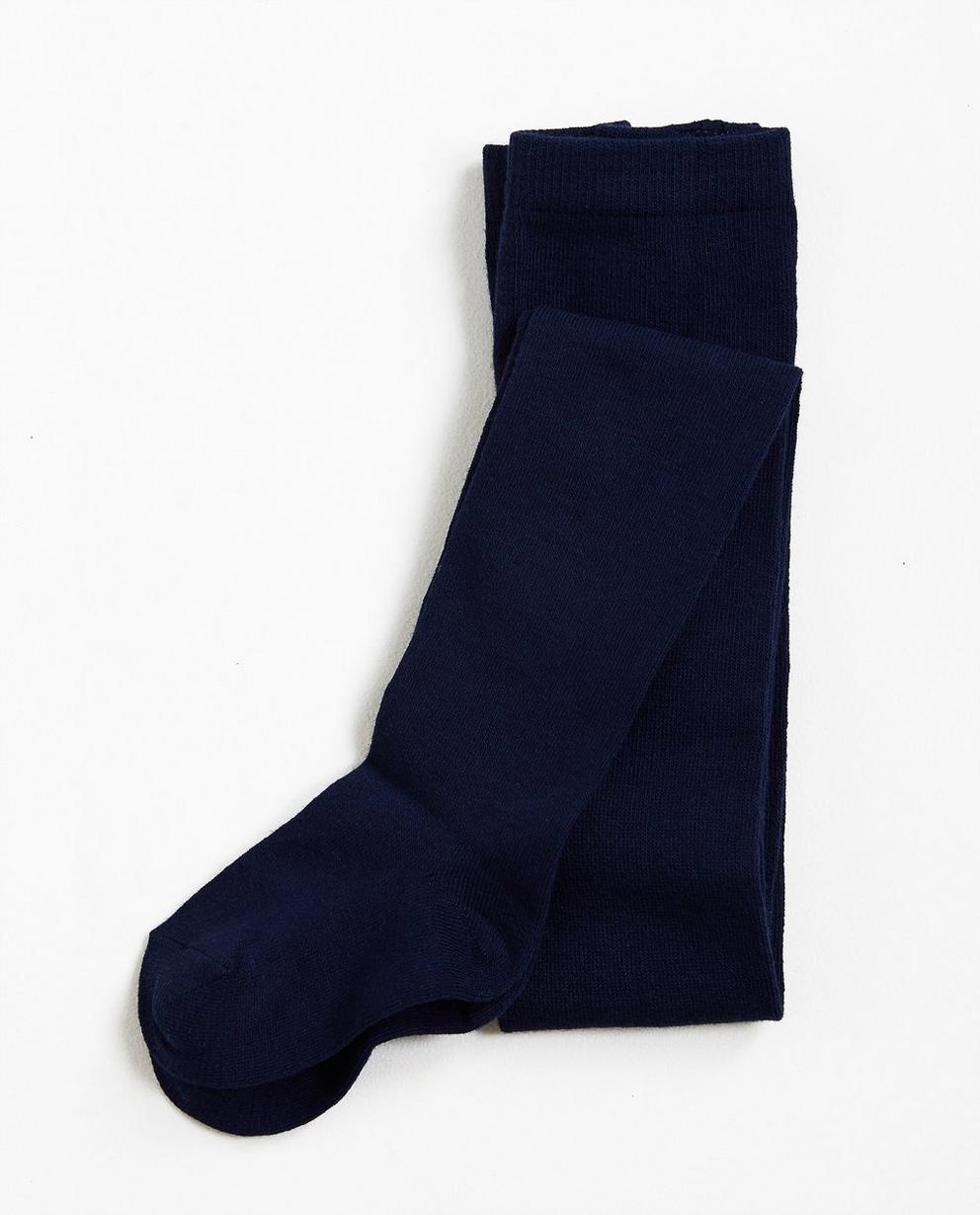 Nachtblaue Strumpfhose - aus stretchigen Baumwollmix - JBC